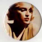 "WHO'S THAT GIRL TOUR -  LARGE 6"" PIN BADGE"